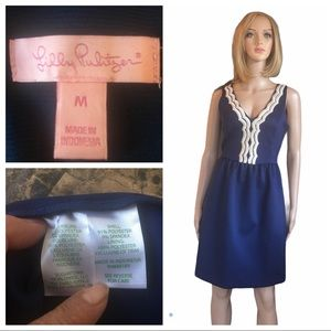 Lilly Pulitzer navy/gold Rorey dress size M